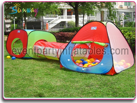 Kids tent with tunnel SKT-004